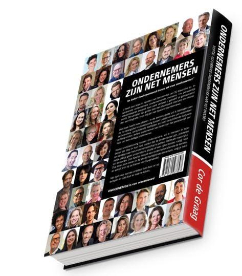Cover boek ondernemers zijn net mensen achterzijde