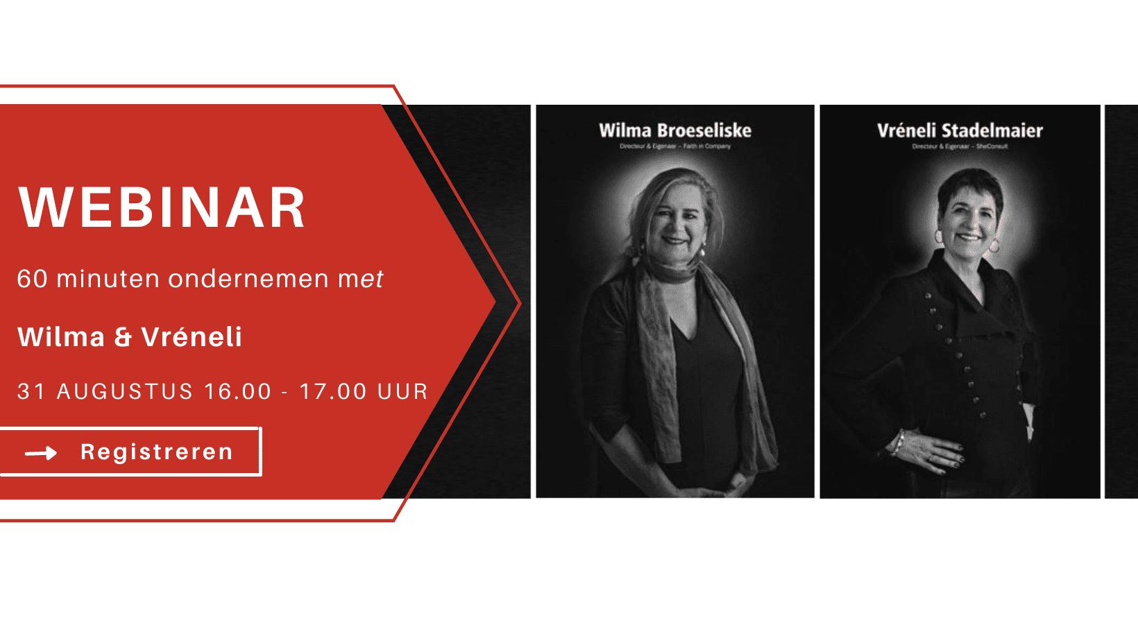 webinar 60 minuten ondernemen met wilma-broeseliske-en-vreneli-stadelmaier - inspiredbycor.nl